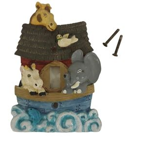 💗Noah's Ark Lightswitch Cover, Boat/Animals/Waves